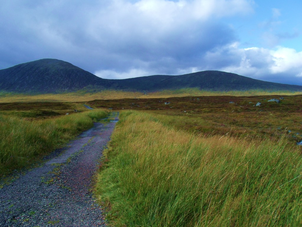 The Black Corries and West Highland Way leading to The Kings House