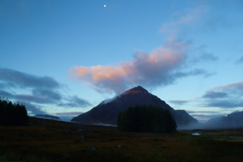Sunrise on Buachaille Etive Mor