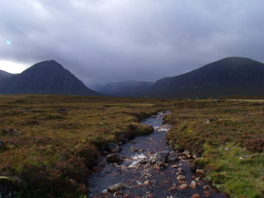 Rain Fast Approaching Buachaille Etive Mor