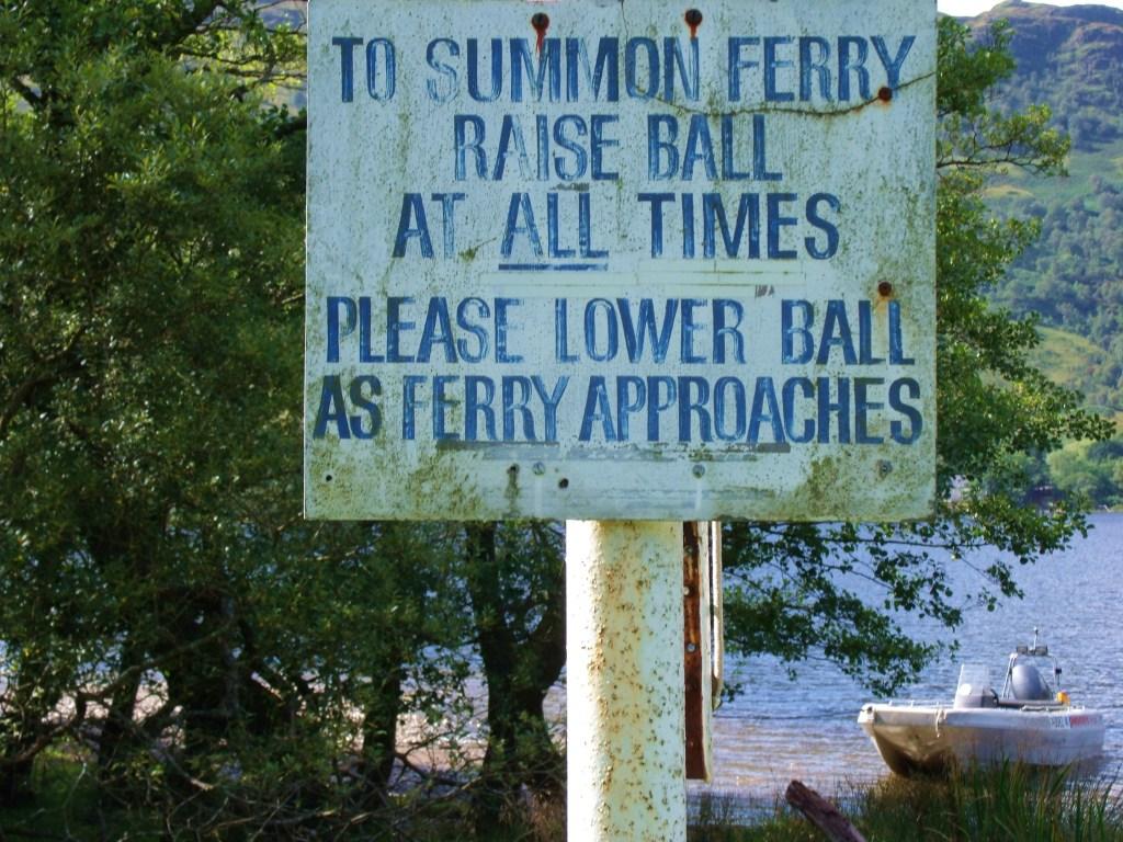 Sign at Ardleash Bouy