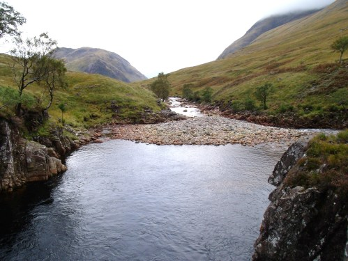 River Etive beyond Beer Bottle Pool