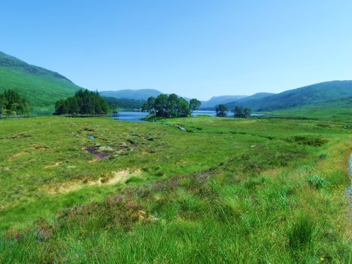 First Sight Of Loch Ossian Hostel