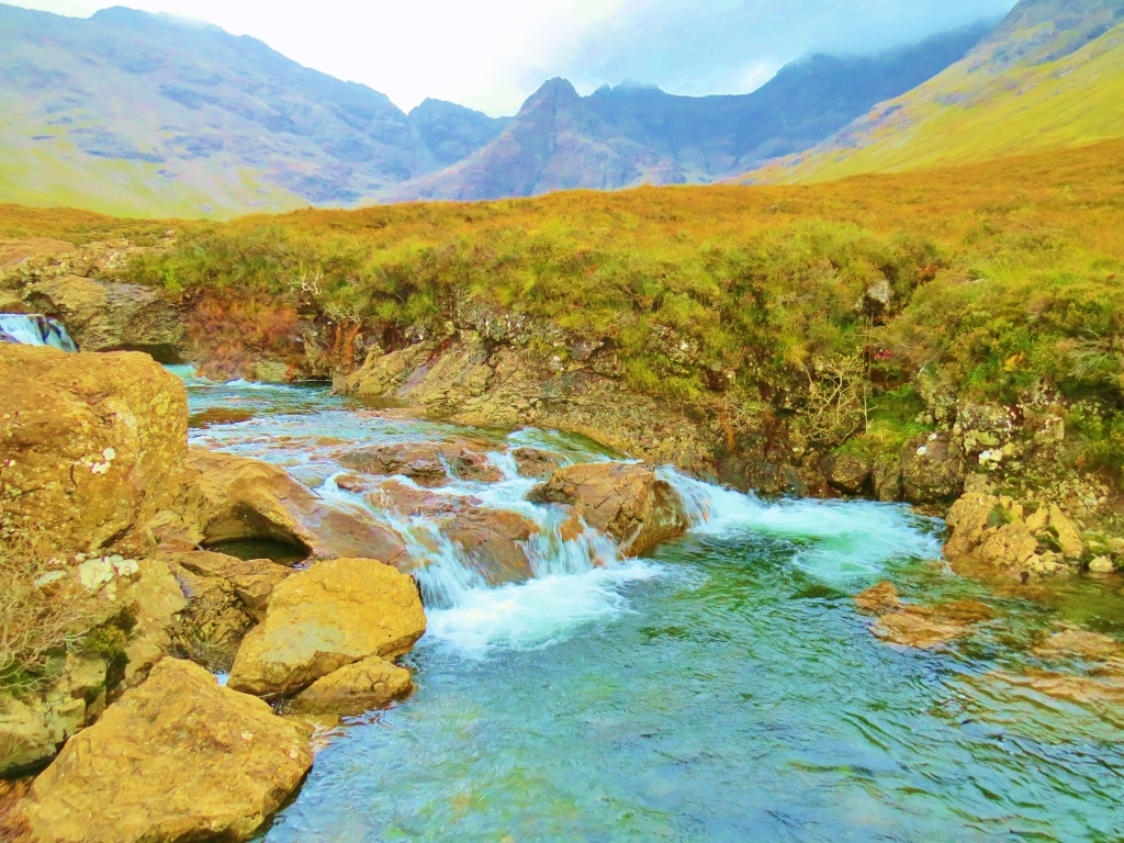 River Brittle leading to Fairy Pools