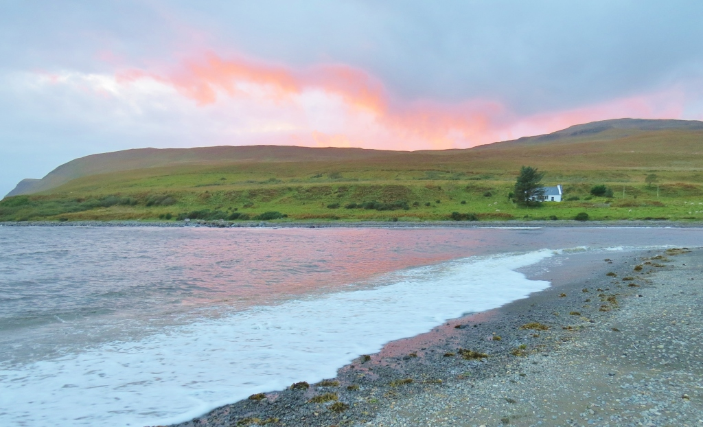 Night Falling on Brittle Beach, Skye