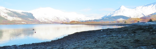 Loch Leven and the mountains of Glencoe