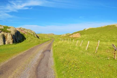 Road across the island