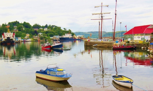 Tall ship in Oban harbour