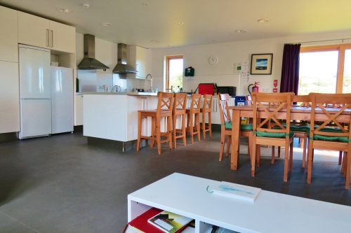 kitchen, dining, common room