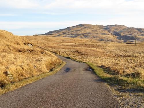 Road through wild Jura