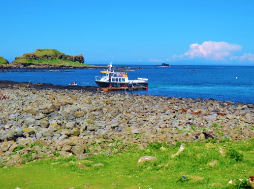 boat and pontoon at Lunga