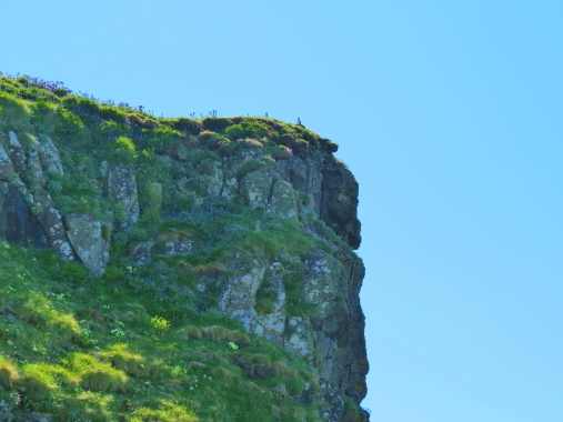 cliff face on Lunga