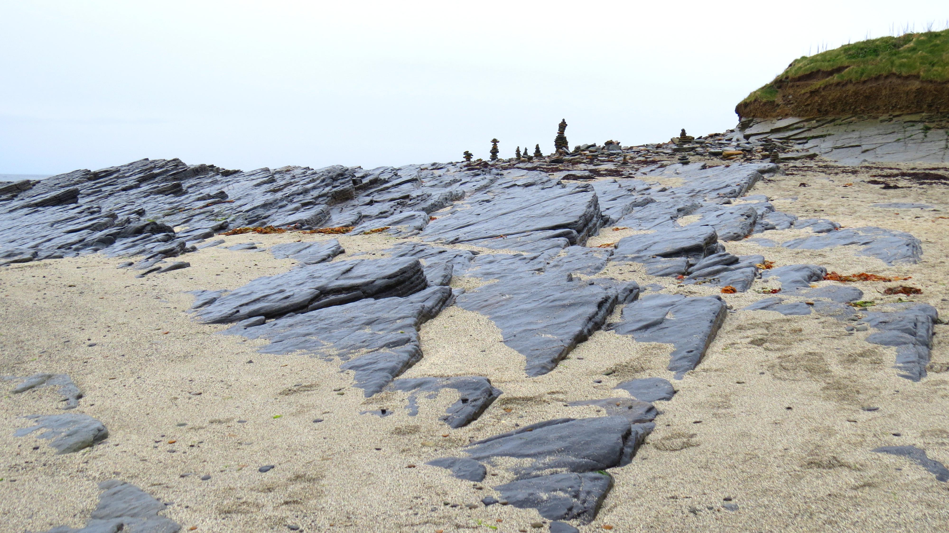 flat rocks on birsay beach