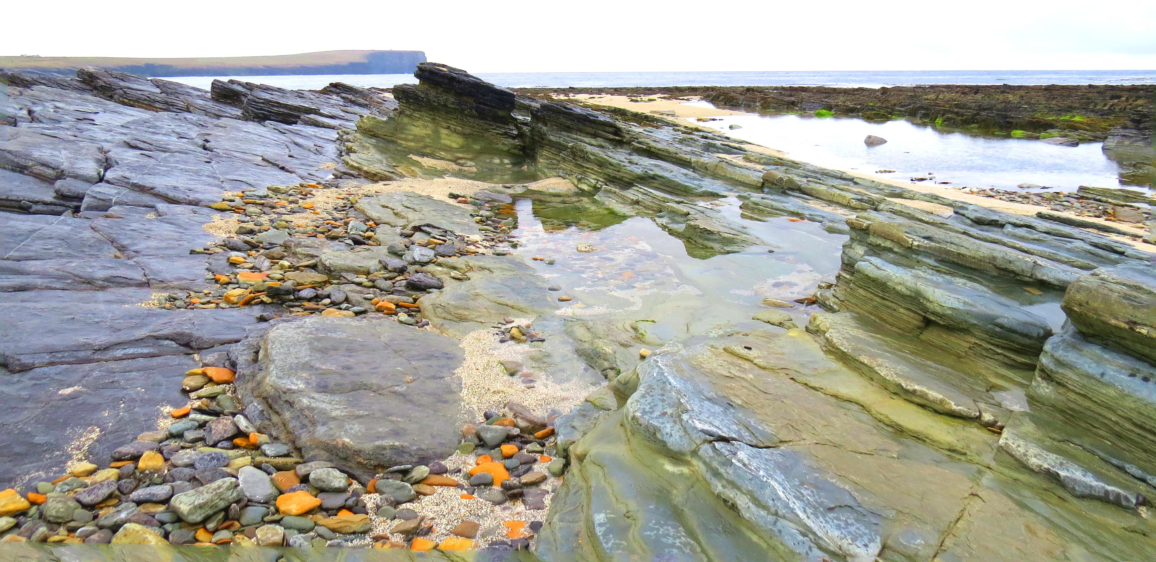 rocks, skaill bay