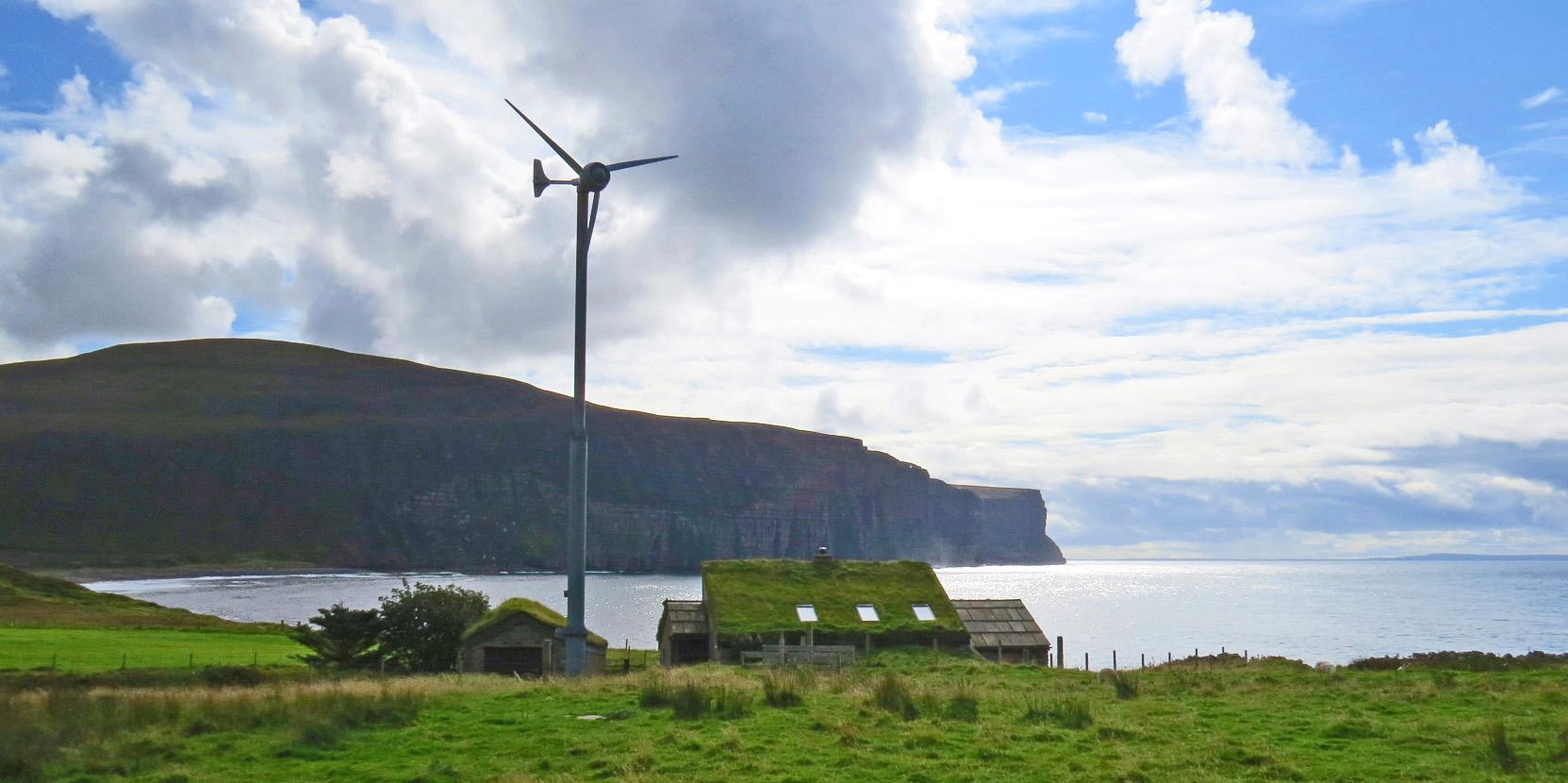 windmill at Rackwick Bay
