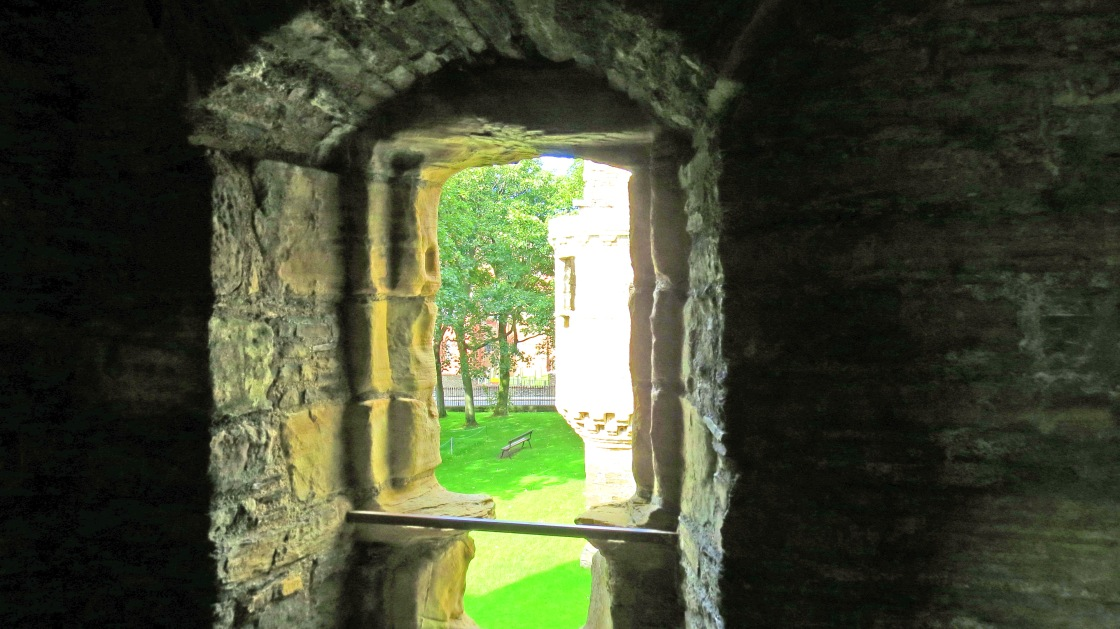 view from castle window